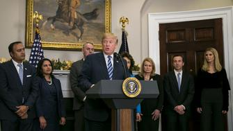 U.S. President Donald Trump speaks during an event in the Roosevelt Room of the White House, Thursday, Dec. 14, 2017. Trumptrumpeted his effort to slash government rules as 'the most far-reaching regulatory reform in history.' Photographer: Al Drago/Bloomberg via Getty Images