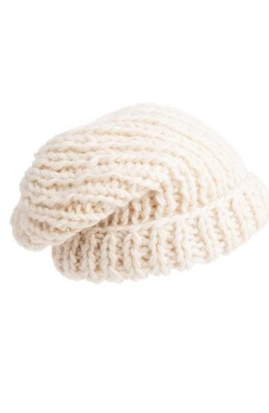 """This <a href=""""https://shop.nordstrom.com/s/nirvanna-designs-chunky-knit-slouchy-wool-cap/4705827?origin=category-personalized"""