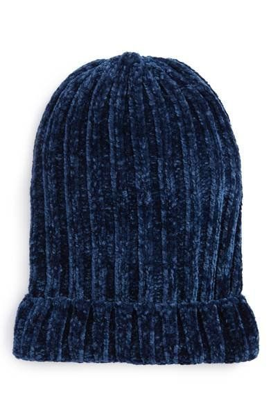 """The softness of this <a href=""""https://shop.nordstrom.com/s/free-people-huggy-bear-chenille-beanie/4787819?origin=category-per"""