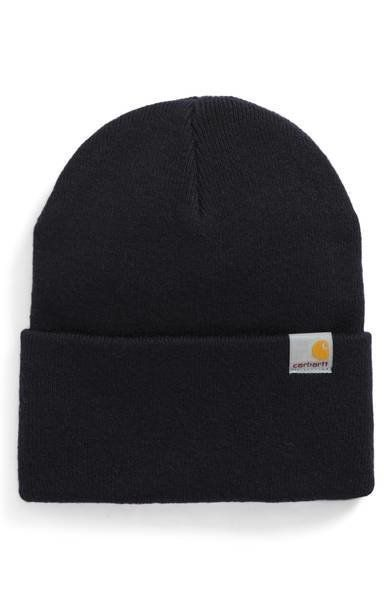 """Keep it simple yet structured with this <a href=""""https://shop.nordstrom.com/s/carhartt-work-in-progress-playoff-beanie/469598"""