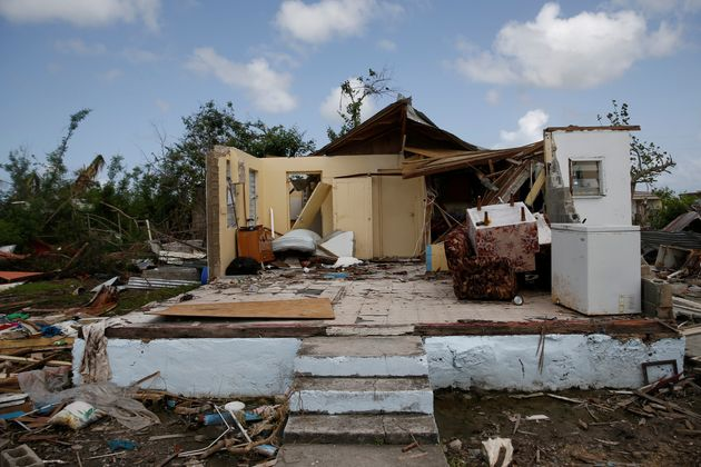A home in ruins on the island of Barbuda after Hurricane Irma struck in
