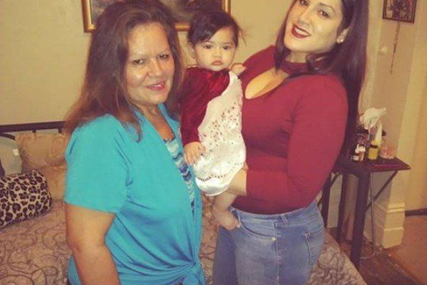 Maria Batiz, left, with her daughter Christine and her 8-month-old granddaughter, Amora Vidal. Maria Batiz and the baby