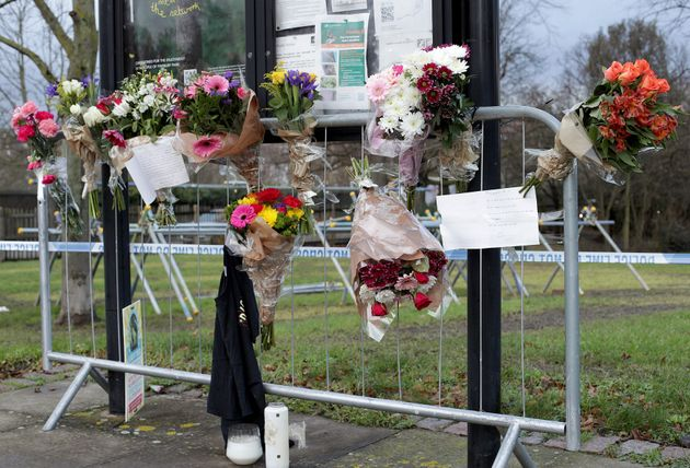 Messages and flowers left in tribute to Tudos at Finsbury
