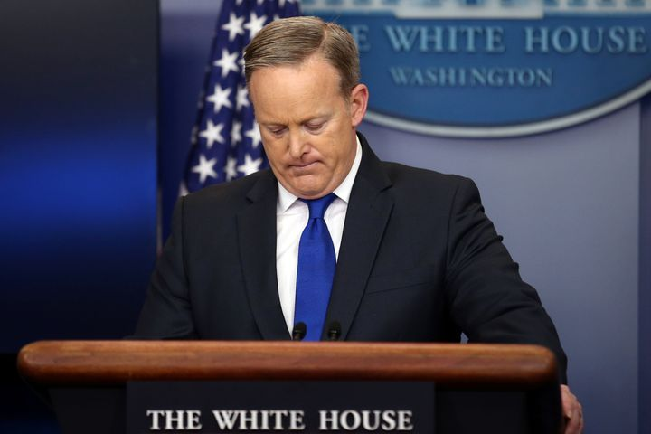 Then-White House press secretary Sean Spicer sparked outrage when he inexplicably compared the mass murders committed by