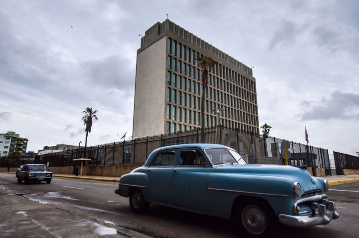 The U.S. State Department withdrew more than half of its staff from the embassy in Havana after diplomats there reported a nu