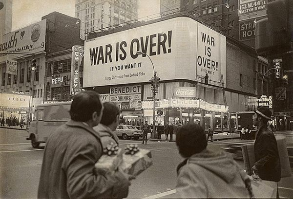 "The December 1969 ""War Is Over!"" ad campaign."