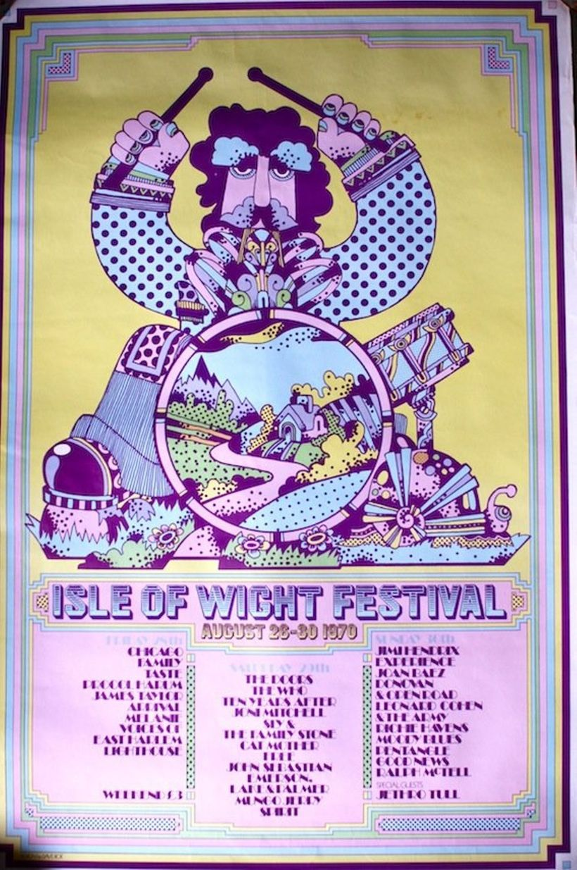 <strong><em>Poster for the 1970 Isle of Wight Festival</em></strong>