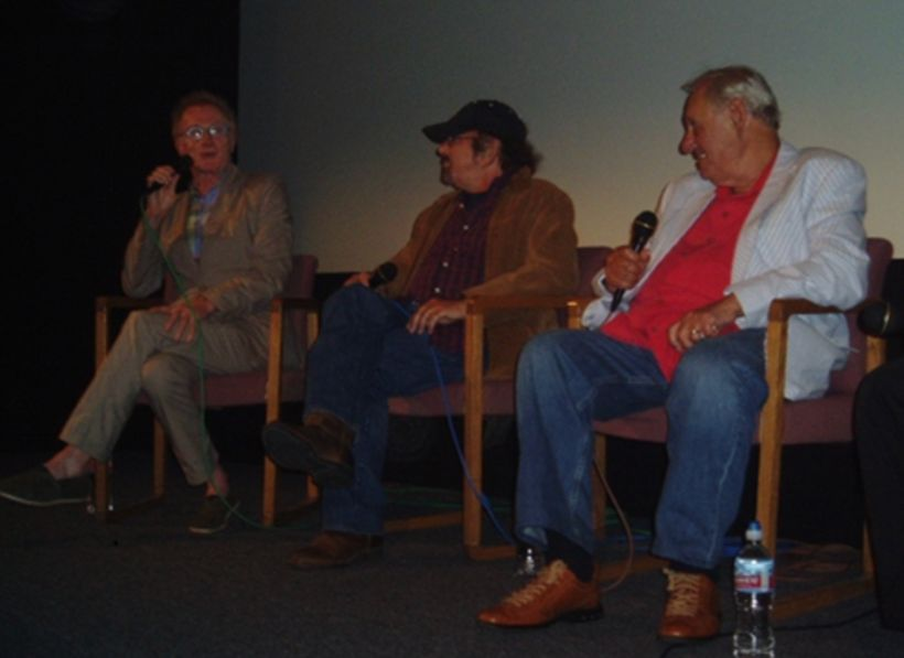 <strong><em>(Left-to-right) Andrew Loog Oldham, Barry Goldberg and Murray Lerner - August 2010 at the American Cinematheque's
