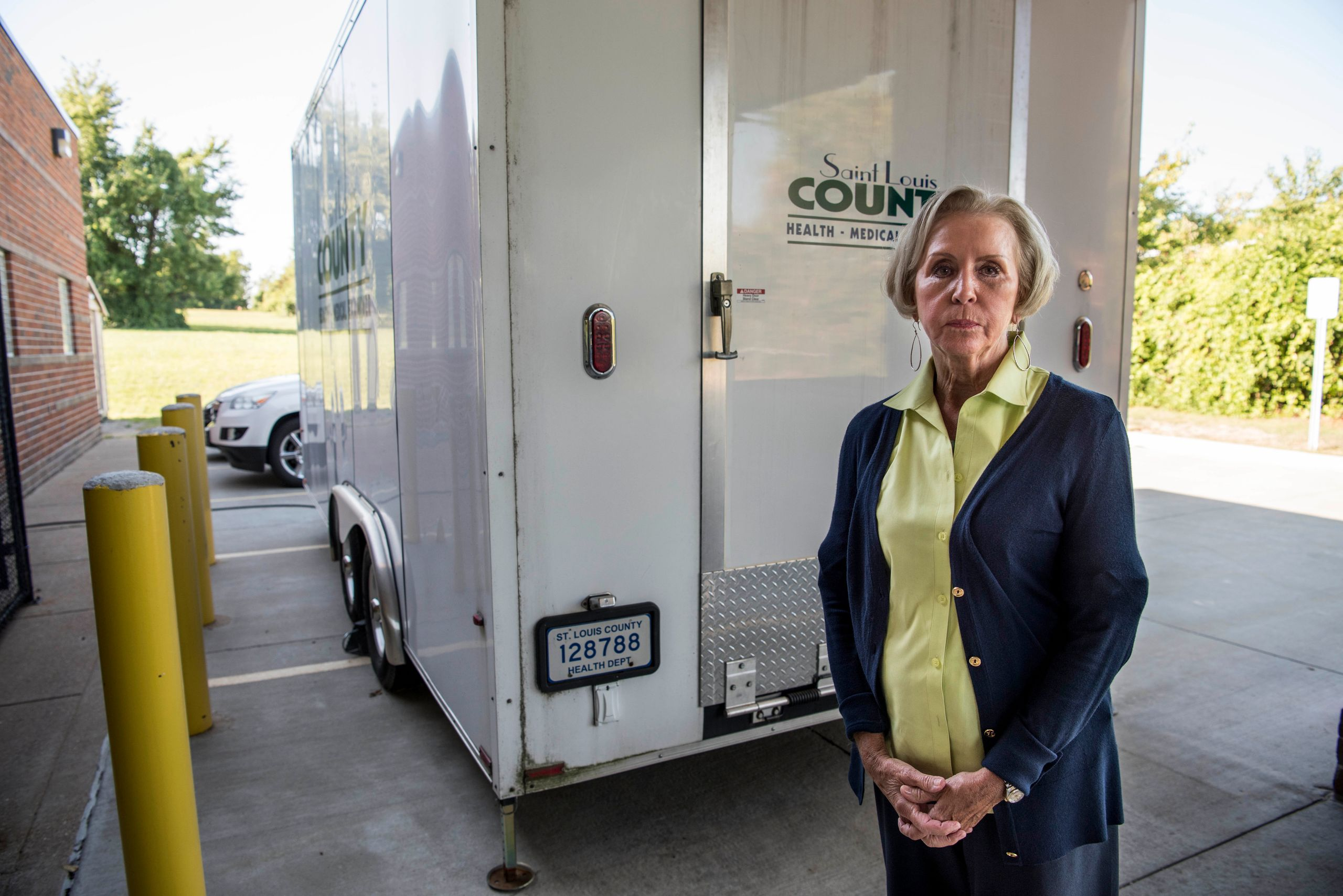 Dr. Mary E. Case, the chief medical examiner in St. Louis County, started using a portable refrigerated morgue -- which is de