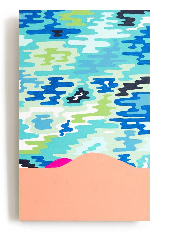 <p><em>Nice Ass</em>, 2016, House paint, acrylic and gouache on canvas, 24.5 x 16.5 in.</p>