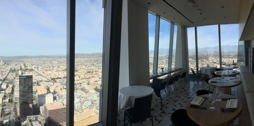 The morning view from a breakfast nook in Dekkadance, on the 69th floor.