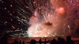 Fireworks barge explodes off Terrigal Beach