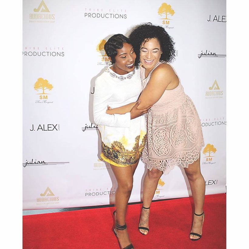 Nia Rice and Megan Alston at the Serene MGMT Launch Event in Washington, D.C. in 2016