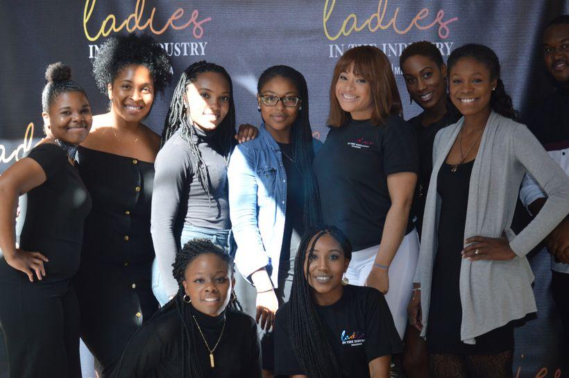 Back Row - Left to Right: Maya Brown, Ciara Brooks, Alexis Fenton, Bria Harrar, Megan Alston, Kayla Alexandria, Antonice Jack