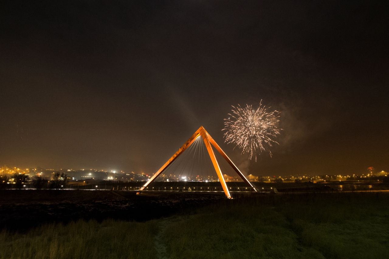 Fireworks are seen in Reykjavik on New Year's Day in Iceland.