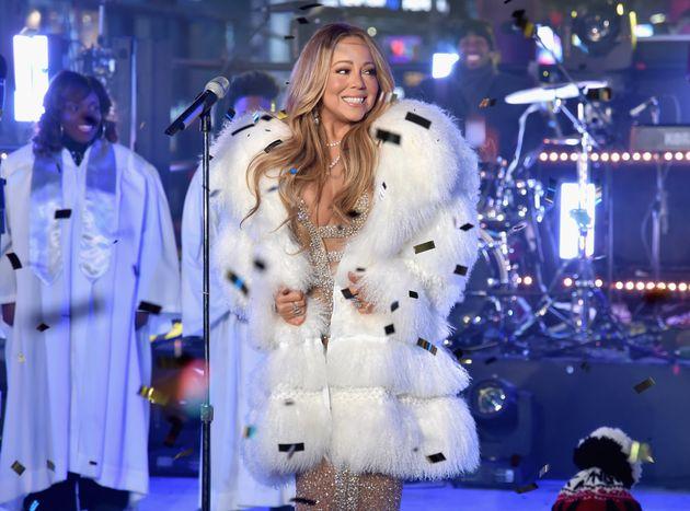 Mariah Carey performing in Times