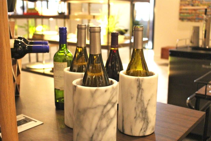 Complimentary wine hour at Kimpton Aertson Hotel