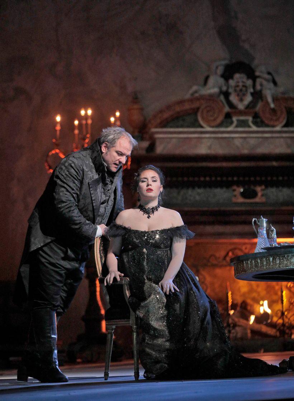 Zeljko Lucic and Sonya Yoncheva in Sir David McVicar's new production of <em>Tosca</em>.