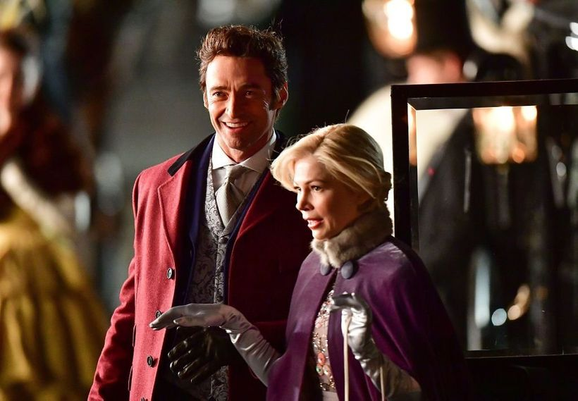 """Hugh Jack,am and Michelle Williams in """"The Greatest Showman"""""""