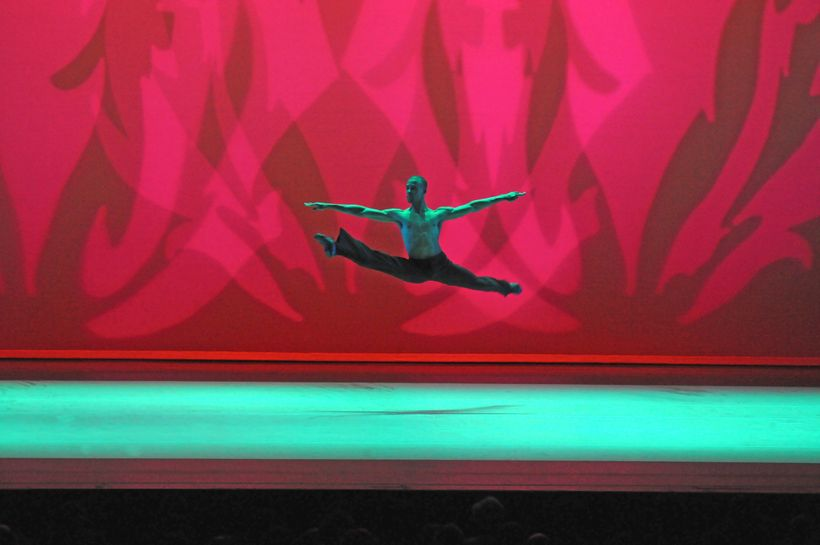 Alvin Ailey American Dance Theater&#39;s Yannick Lebrun in Alvin Ailey&#39;s <em>Revelations.</em>