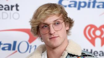 INGLEWOOD, CA - DECEMBER 01:  Internet personality Logan Paul arrives at 102.7 KIIS FM's Jingle Ball 2017 at The Forum on December 1, 2017 in Inglewood, California.  (Photo by Amanda Edwards/WireImage)