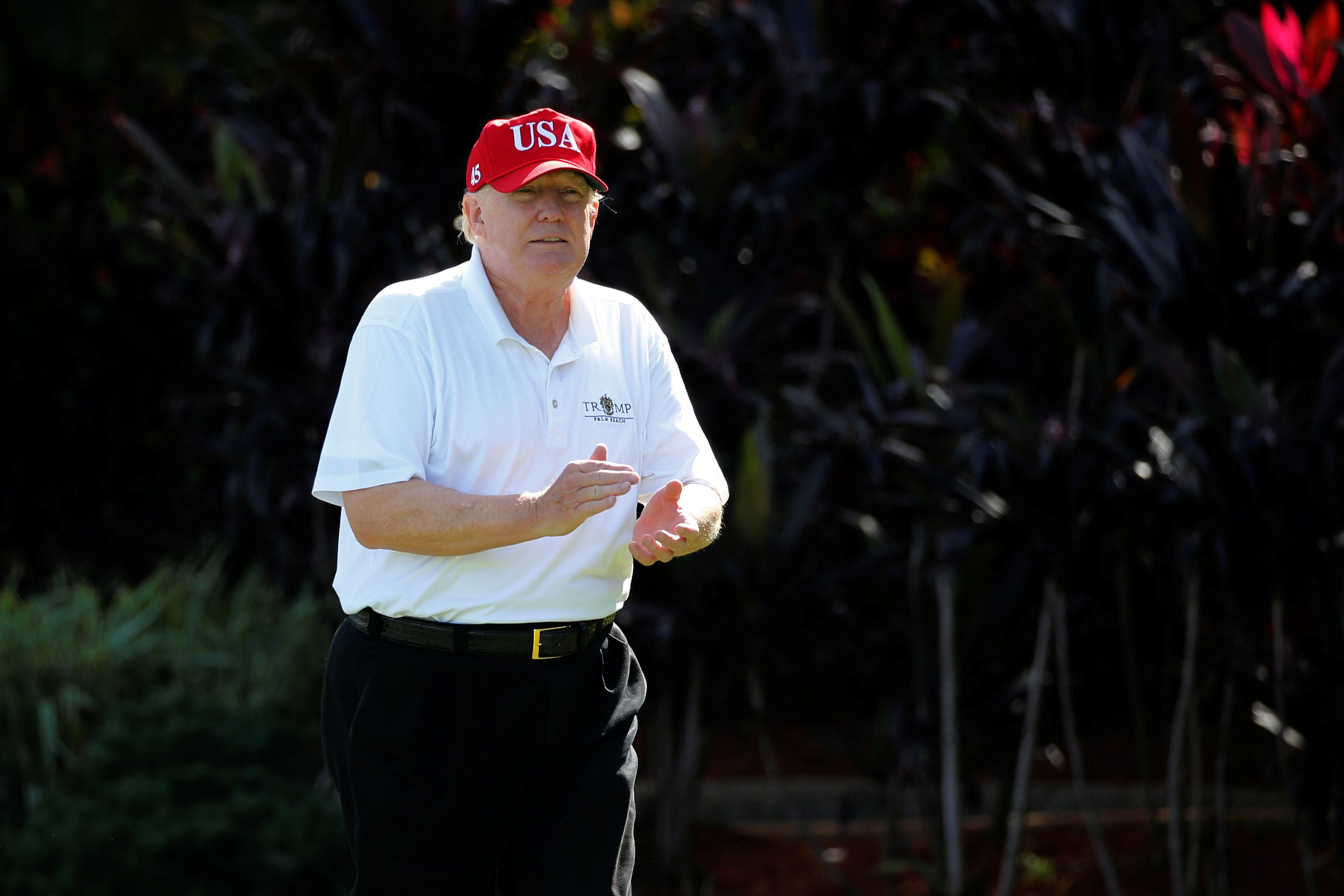 Trump Says 'It's Back To Work,' Then Visits Golf Club For 7 Straight