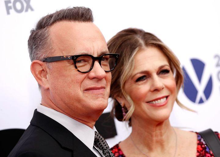 O Tom Hanks με τη σύζυγό του, Rita Wilson, στην πρεμιέρα της ταινίας «The Post» στην πόλη της Ουάσινγκτον.
