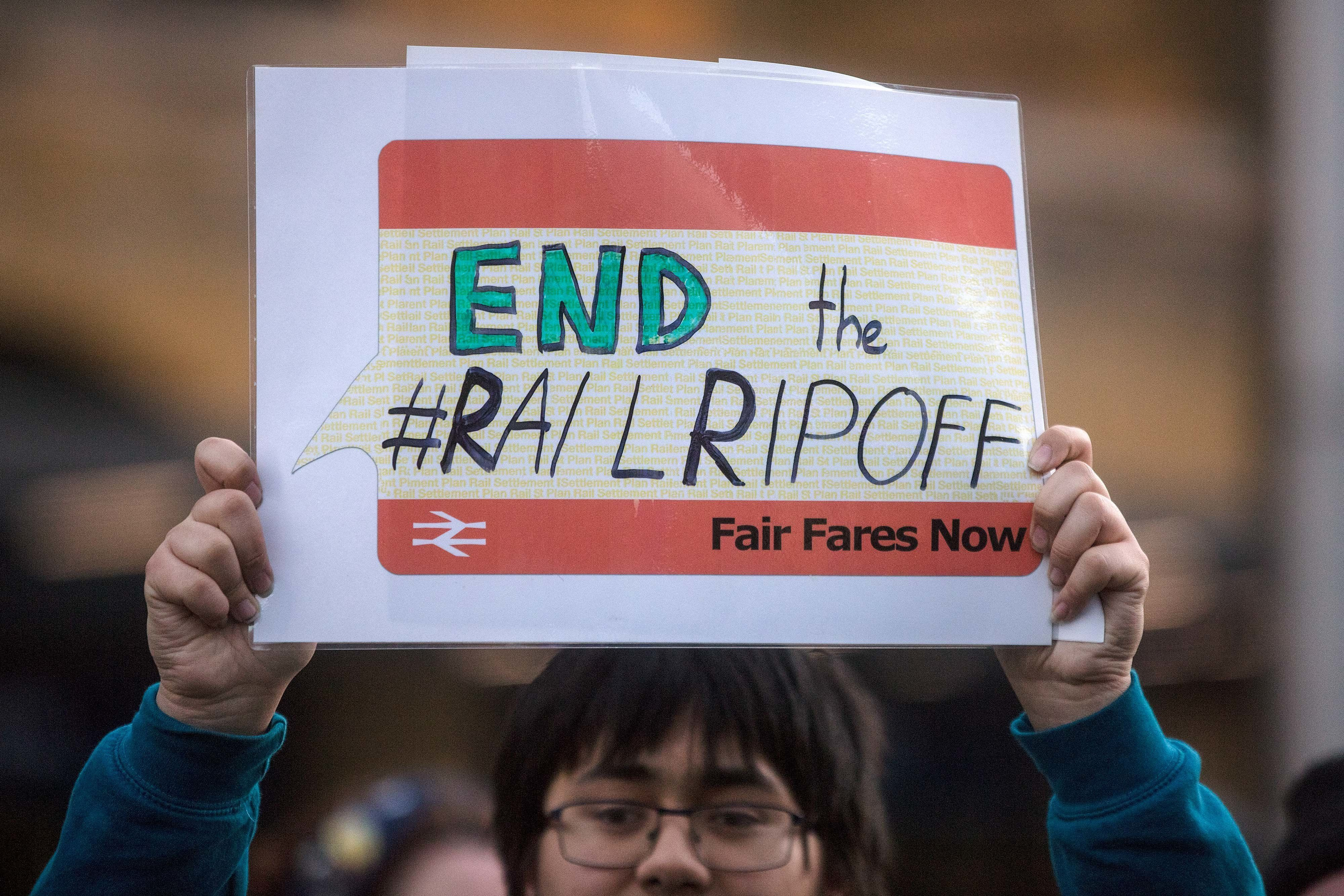 Protests Across The UK As Commuters See Biggest Rail Fare Rise In Five