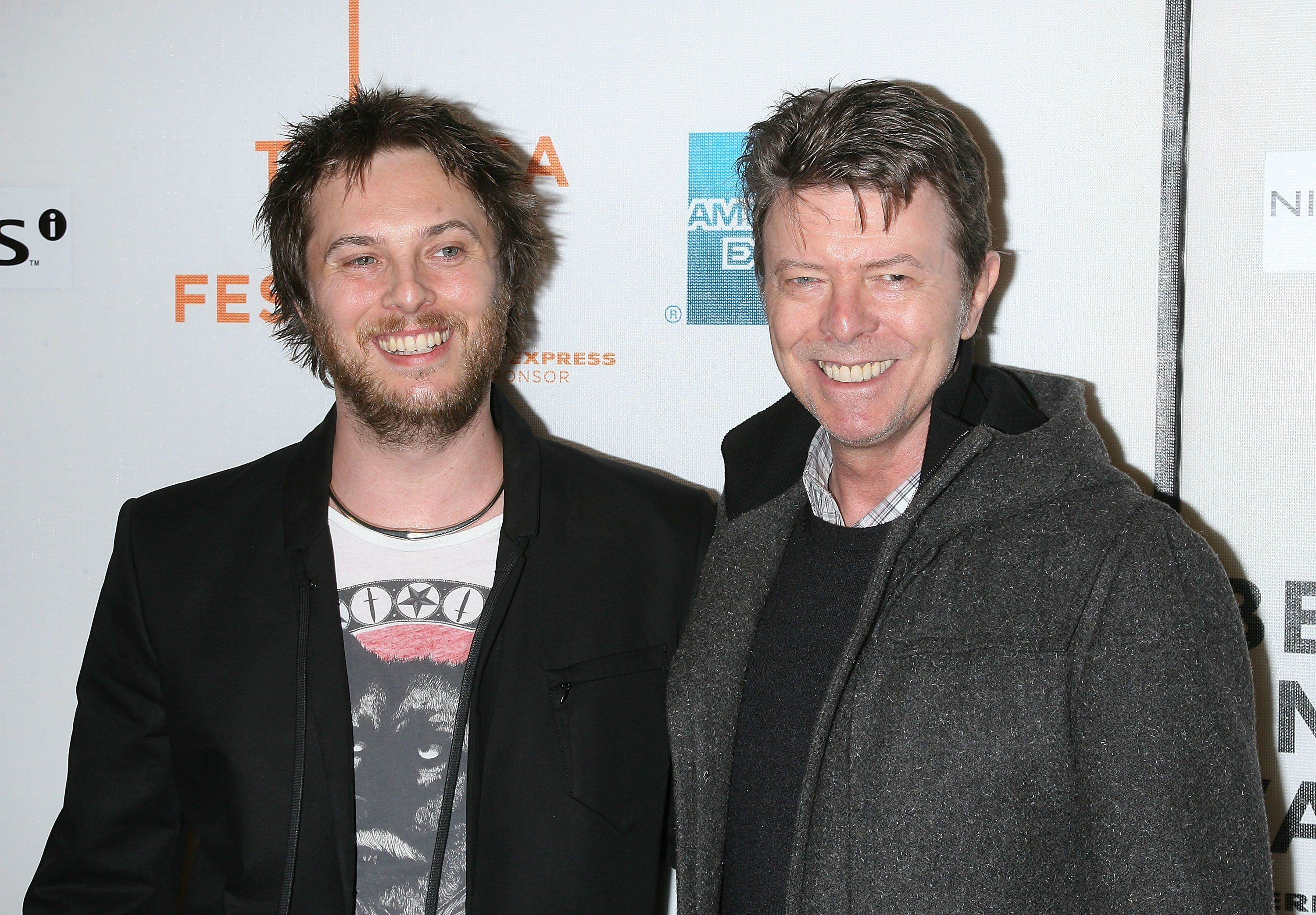NEW YORK - APRIL 30:  Director Duncan Jones and Musician David Bowie attend the premiere of 'Moon' during the 8th Annual Tribeca Film Festival at BMCC Tribeca Performing Arts Center on April 30, 2009 in New York City.  (Photo by Jim Spellman/WireImage)