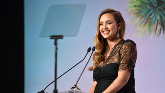 LOS ANGELES, CA - NOVEMBER 11:  Jessica Alba speaks onstage at The 2017 Baby2Baby Gala presented by Paul Mitchell on November 11, 2017 in Los Angeles, California.  (Photo by Matt Winkelmeyer/Getty Images for Baby2Baby)