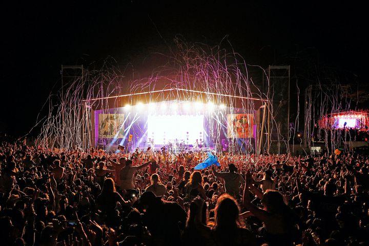The Falls Festival in Tasmania on Dec. 31.