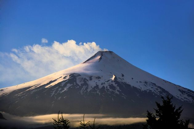 Villarrica is an active volcano located in Andes Mountain Range, Araucania region, Pucón -
