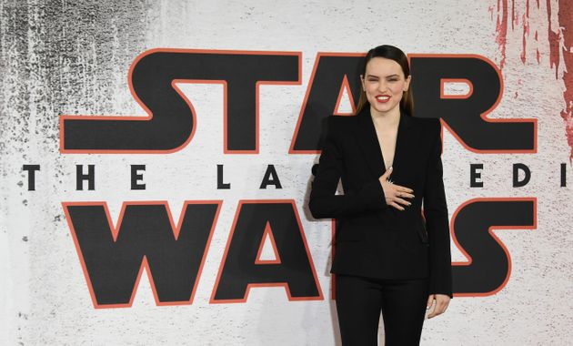 Daisy Ridley, who plays Rey, had plenty to smile about in 2017 after
