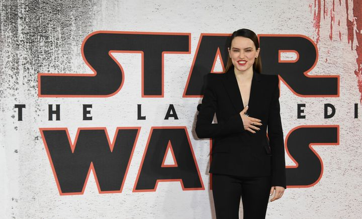 "Daisy Ridley, who plays Rey, had plenty to smile about in 2017 after ""Star Wars: The Last Jedi"" collected an otherworldly $51"