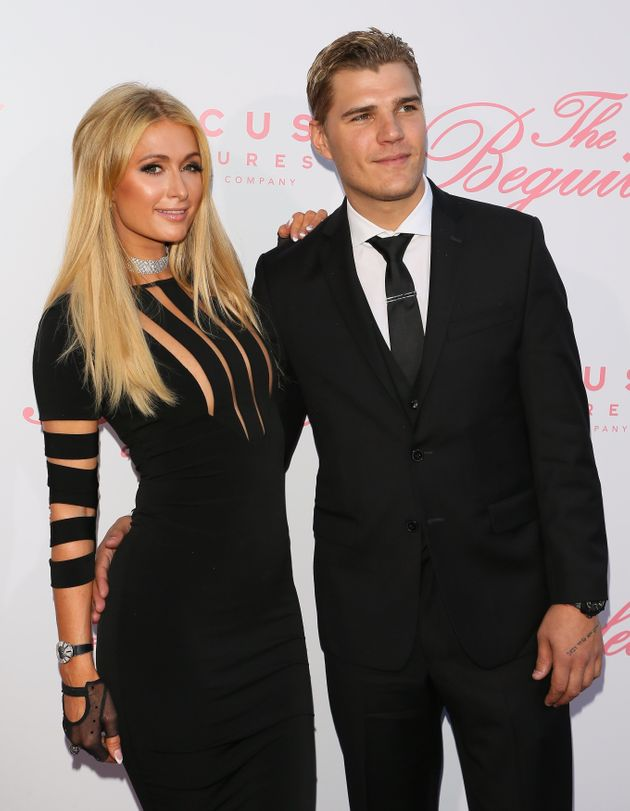Paris Hilton and Chris Zylka at the premiere of