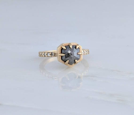 """<a href=""""https://www.etsy.com/listing/532047909/grey-diamond-ring-pave-band-engagement?ref=related-2"""" target=""""_blank"""">Grey Di"""