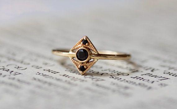 """<a href=""""https://www.etsy.com/listing/274615948/14k-gold-black-diamond-ring-art-deco?ref=related-2"""" target=""""_blank"""">14k Gold"""