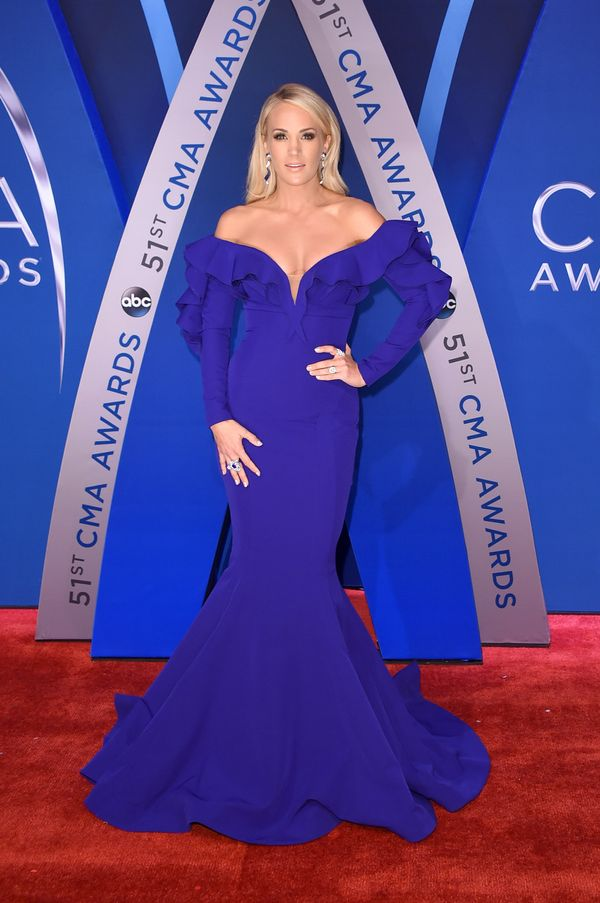 At the 51st annual CMA Awards at the Bridgestone Arena on Nov. 8, 2017 in Nashville, Tennessee.
