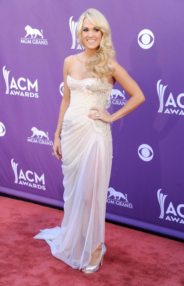 At the Academy of Country Music Awards at MGM Grand Garden Arena on April 1, 2012 in Las Vegas.