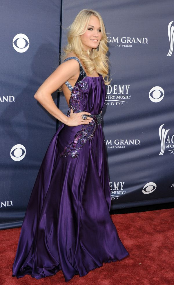 At the Academy of Country Music Awardsred carpet on April 3, 2011 in Las Vegas.