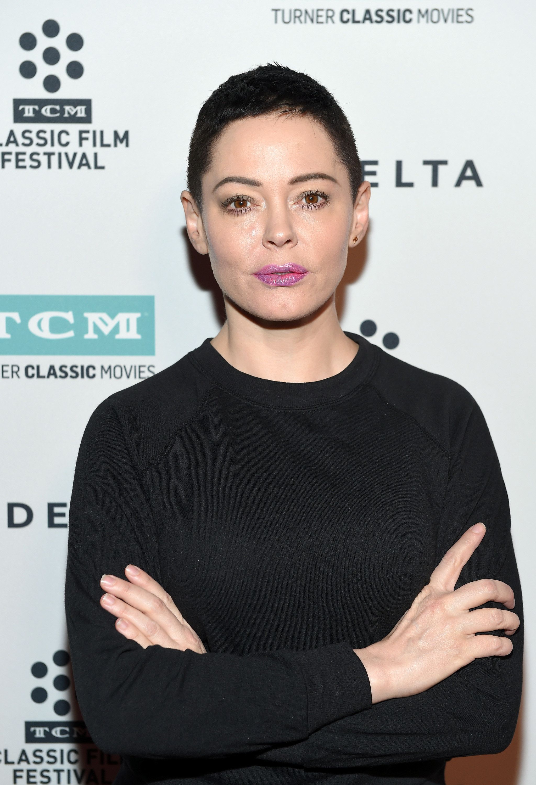 "Rose McGowan attends a screening of ""Lady in the Dark"" in Los Angeles, April 9, 2017."