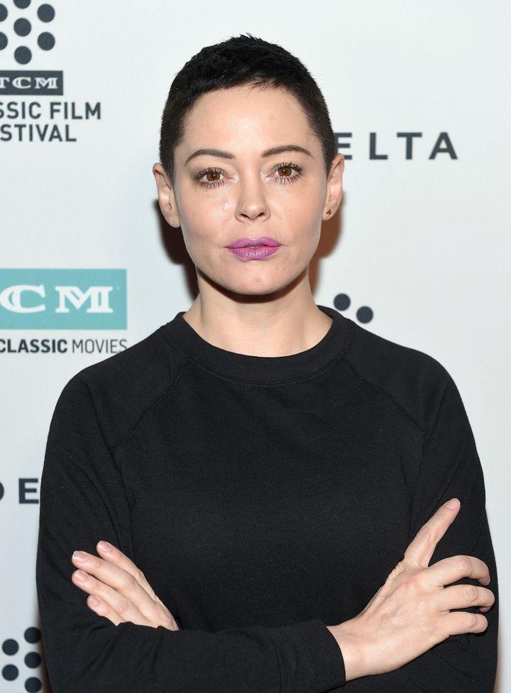 "Rose McGowan attendsa screening of ""Lady in the Dark"" in Los Angeles, April 9, 2017."