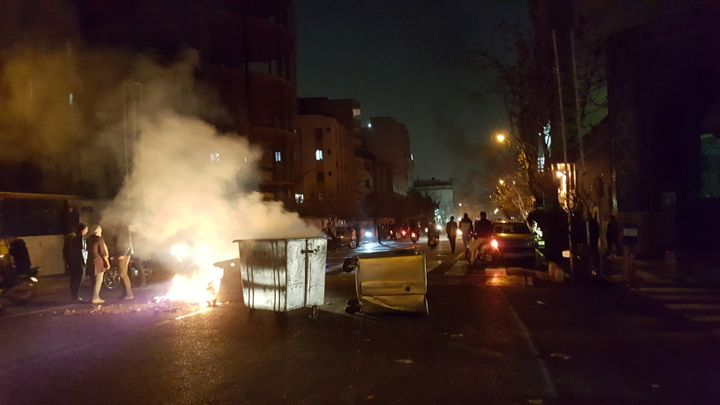 The protests have spread to dozens of Iranian towns and cities in a matter of days.