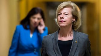 UNITED STATES - NOVEMBER 17: Sen. Tammy Baldwin, D-Wis., leaves the Capitol following votes in the Senate on Tuesday, Nov. 17, 2015. (Photo By Bill Clark/CQ Roll Call)