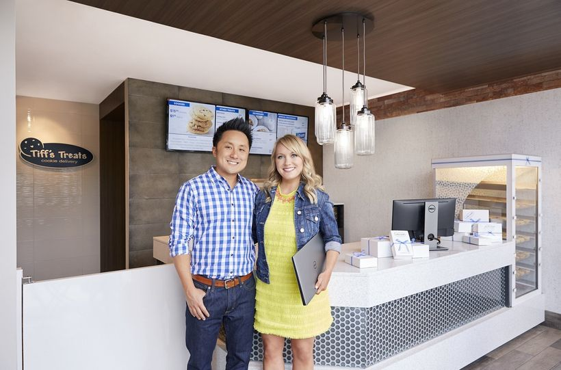 "Tiffany and Leon Chen, founders of cookie delivery company, <a rel=""nofollow"" href=""https://www.cookiedelivery.com/"" target="""