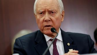 "Chairman of the Senate Budget Committee Orrin Hatch (R-UT) speaks at the start of the House-Senate Conferees conference meeting on the ""Tax Cuts and Jobs Act"" on Capitol Hill in Washington, U.S., December 13, 2017.   REUTERS/Joshua Roberts"
