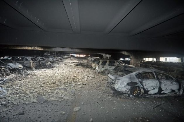 New pictures show how auto  park fire destroyed up to 1600 vehicles