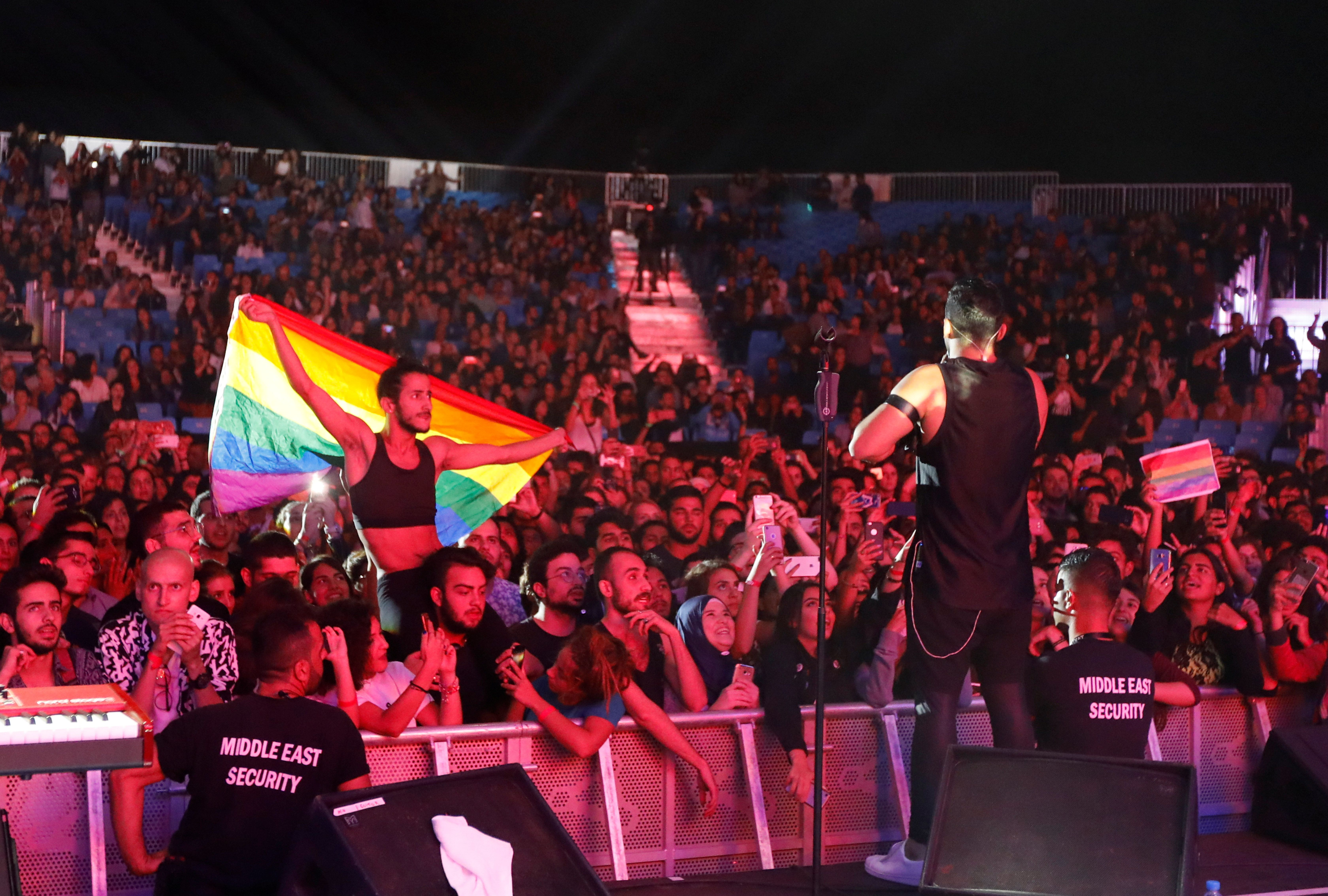At a Sept. 22 concert packed with 30,000 people and headlined by Mashrou' Leila, a Lebanese alternative rock band whose