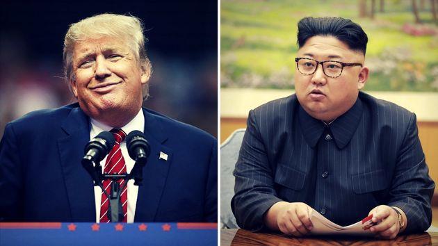 Behauptenbeide, sie hätten große Raketen: Donald Trump und Kim