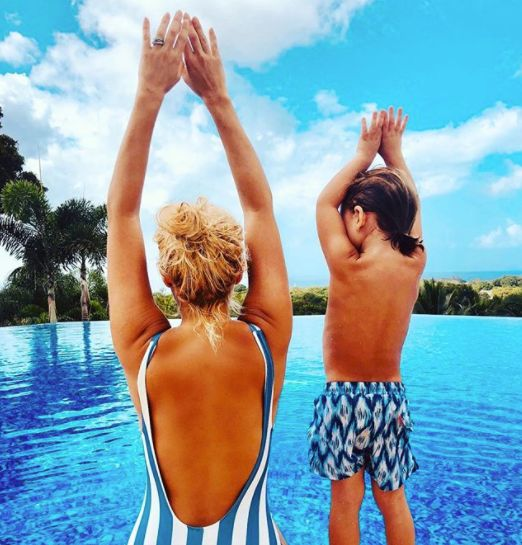 Holly Willoughby Shares Sunny Snap With 3-Year-Old Son (While We're Braving The